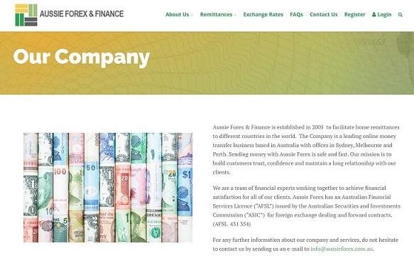 Aussie Forex Finance Remittance